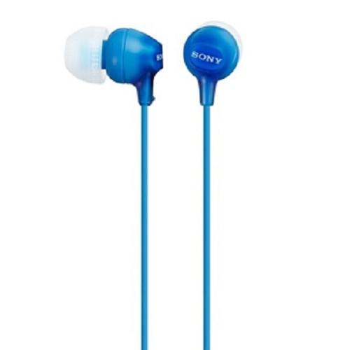 SONY Earphone [MDR EX-15LP] - Blue - Earphone Ear Bud